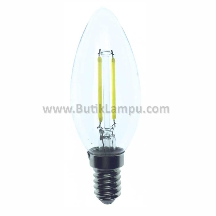 harga Lampu candle led e14 2w clear kuning Tokopedia.com