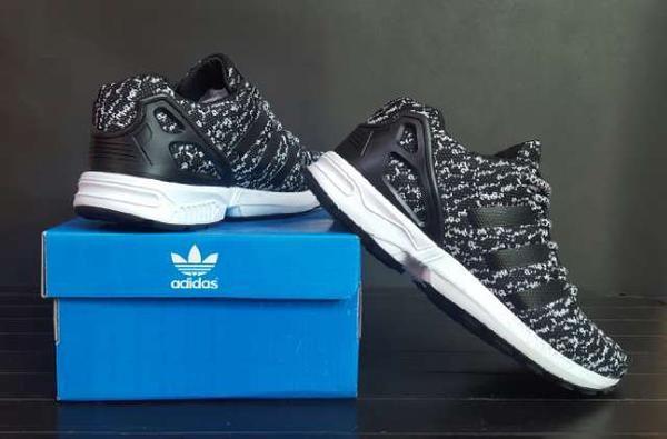 08fa4aefa Adidas ZX flux flyknit premium black   sepatu sport trendy casual pr