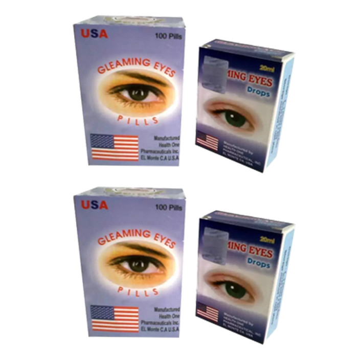 Herbal Gleaming Eye Usa Obat Mata Minus Plus Katarak - Paket @100 Pill