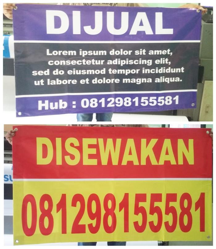 Jual Banner Spanduk Pagar 60cm X 100 Cm Visimedia Printing