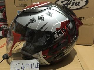 harga Helm kyt galaxy double visor black red Tokopedia.com
