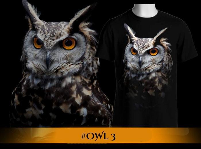 Jual New Kaos 3d Burung Hantu Kota Surabaya Asimo7 Tokopedia