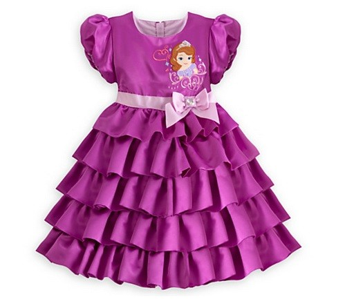 BELLE MAISON PRINCESS SOFIA PURPLE DRESS GAUN UNGU ANAK PEREMPUAN