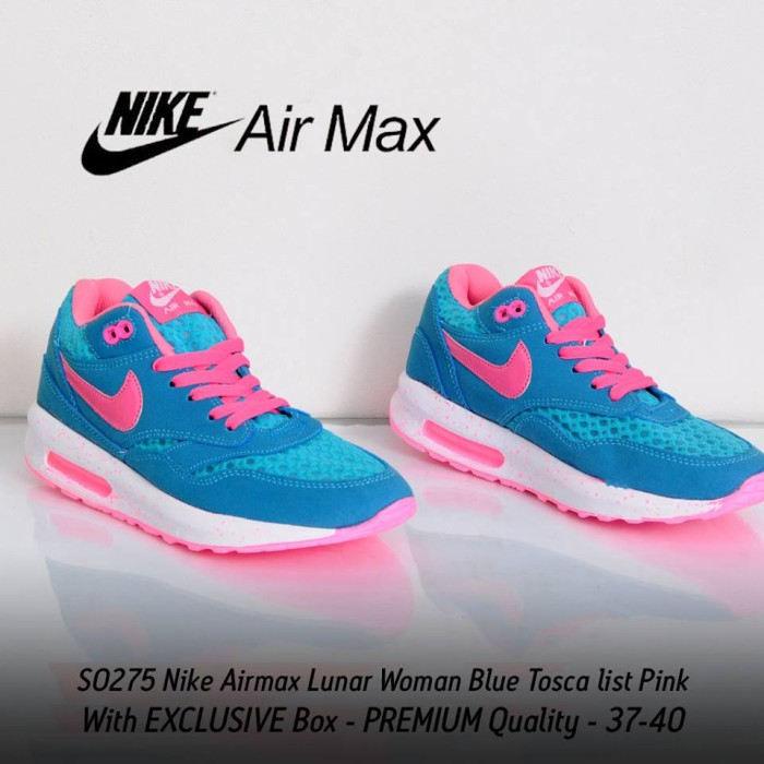 3423220953 Jual SEPATU NIKE AIRMAX LUNAR WOMAN BLUE TOSCA LIST PINK / AIR MAX ...