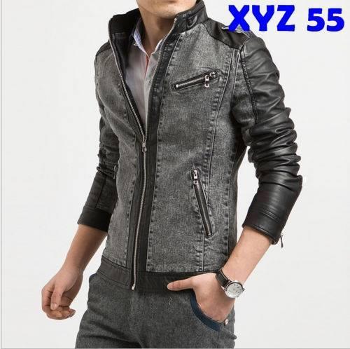 Foto Produk Jaket Jeans Kombinasi Semi Kulit - XYZ ZJIG dari Jaket Kulit Pria Asli