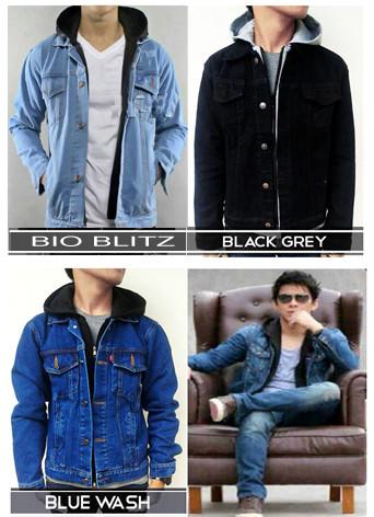 Foto Produk Jaket Jeans Levis Hoodie Ariel 8DW1 dari Jaket Kulit Pria Asli