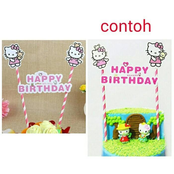 Foto Produk topper cake birthday kue ulang tahun hello kitty dari reanolshoop