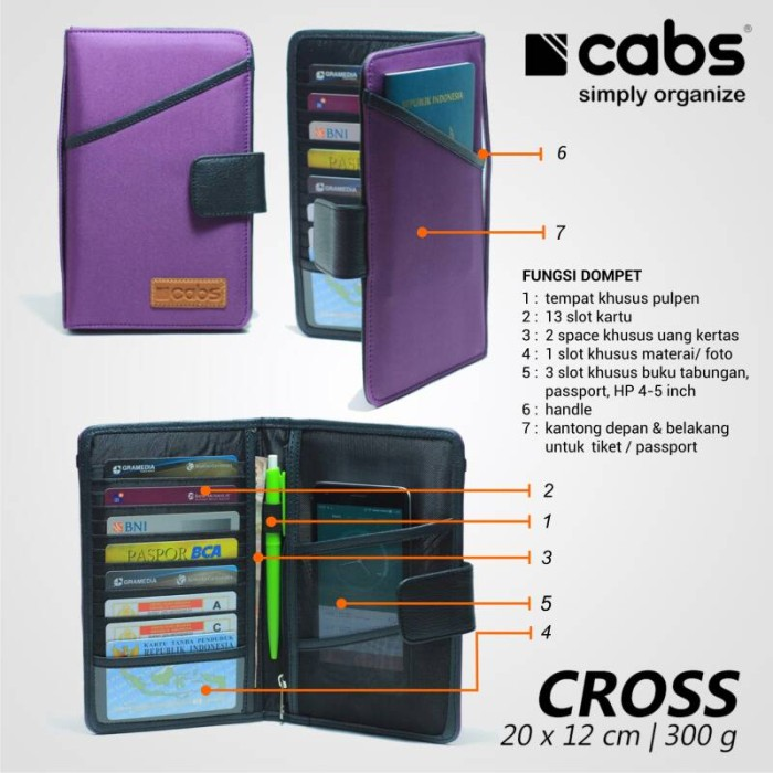 Jual Dompet Pria   Wanita Cabs Pocket Type Cross 13 Slot Kartu Hp 4 ... b81867b4be