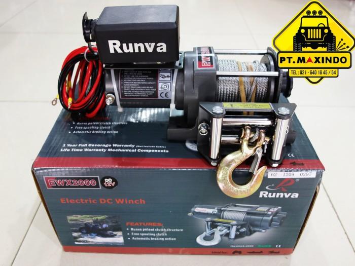 harga Runva Dc Electric Winch Ewx-2000 (900 Kg) Untuk Di Motor Atv Tokopedia.com