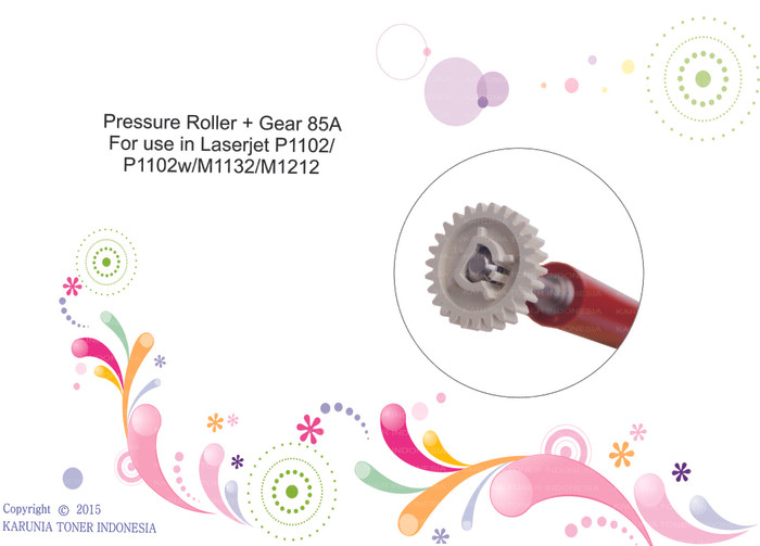 harga Pressure roller + gear 85a for use in laserjet p1102_p1102w/m1132/m121 Tokopedia.com