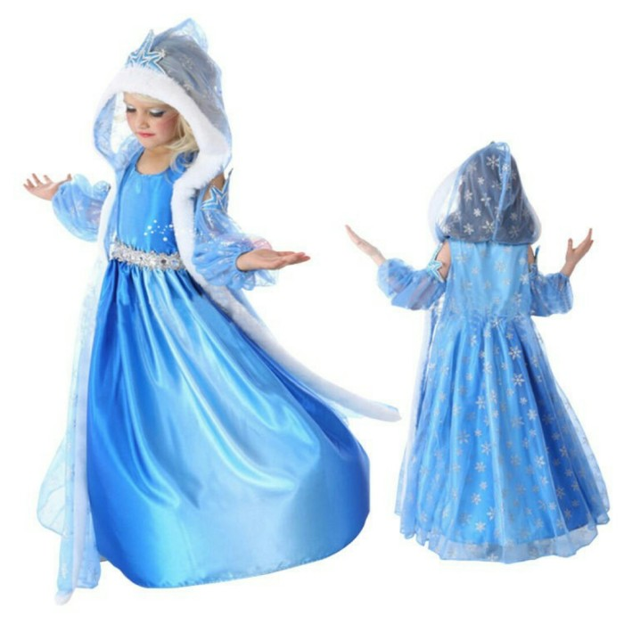 Jual 3in1 KOSTUM ELSA FROZEN MAHKOTA Baju Anak Import Branded Dress ... 63d1f89295