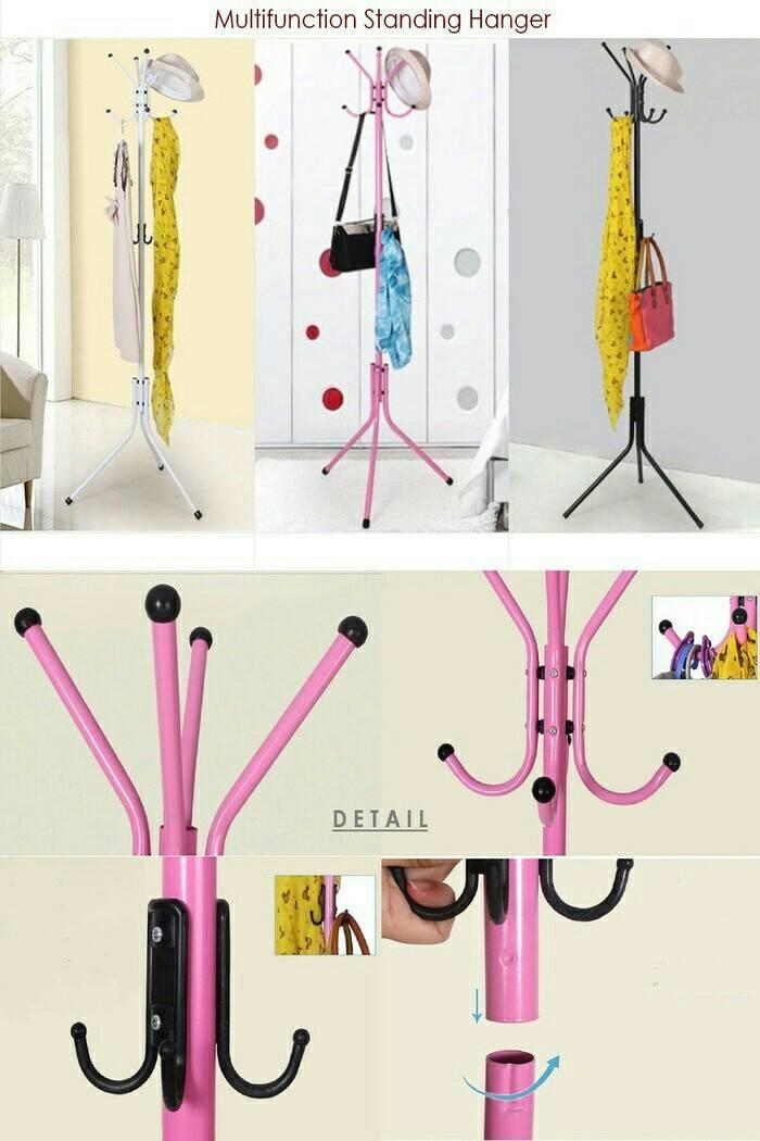 harga Multifunction stand hanger (portable) gantungan baju / gantungan jaket Tokopedia.com