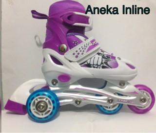 Jual Sepatu Roda Roda Karet Harga Murah Powerline 6032 J ( Ungu ... b70d2a6123