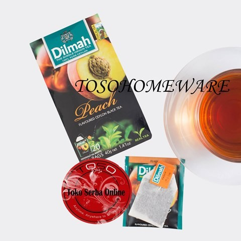 harga Teh dilmah rasa peach tea teh celup- 20 teabags Tokopedia.com