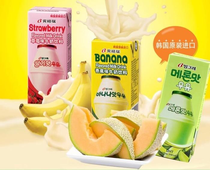 Binggrae korea milk melon strawberry bingrae