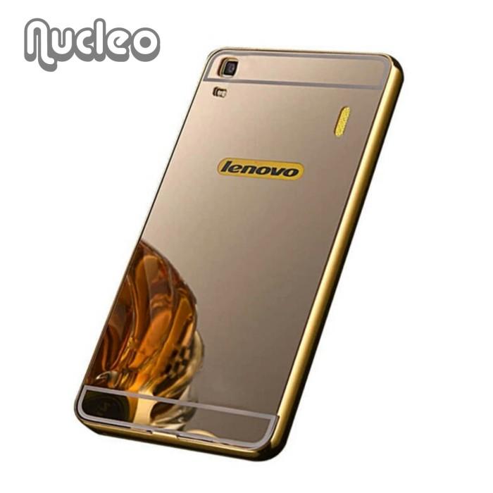 Casing Luxury Armor Bumper Mirror Hard Case Lenovo A7000 Plus A7000+