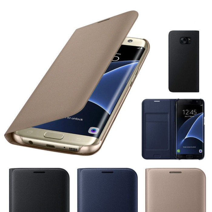 harga Leather flip cover samsung galaxy note 7 case wallet card not ringke Tokopedia.com
