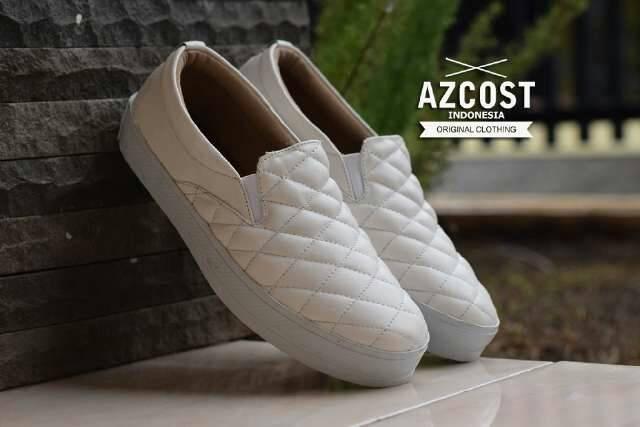 harga Sepatu wedges wanita putih slop on slop lucu azcost Tokopedia.com