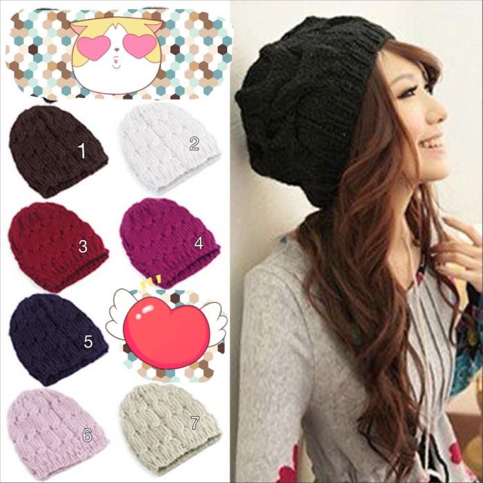 Jual kupluk korea  Topi kupluk wanita - LE Prime Shop  c9eb96e671
