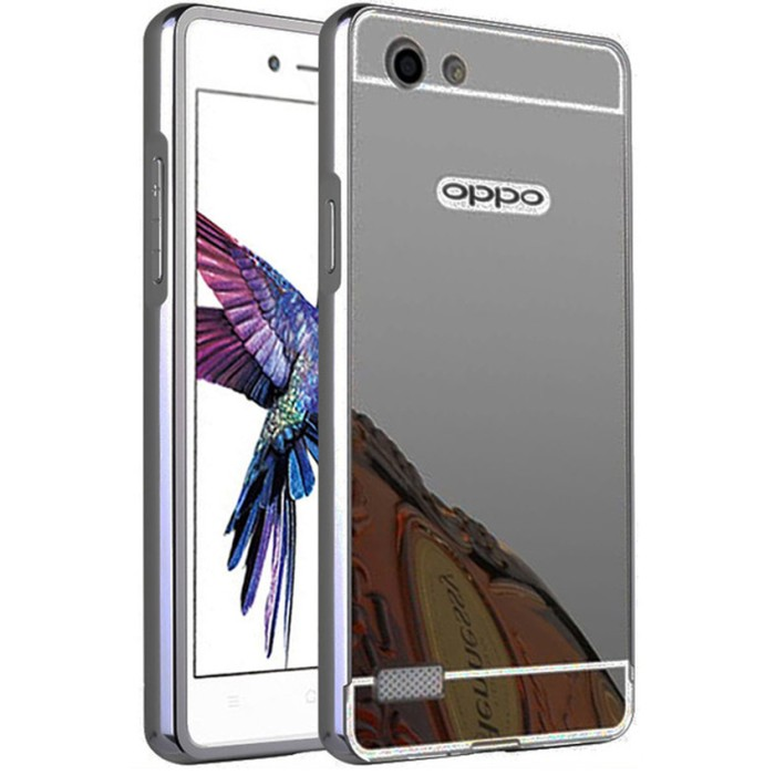 Case for Oppo Neo 7 / A33 with Bumper Backcase Mirror Slide