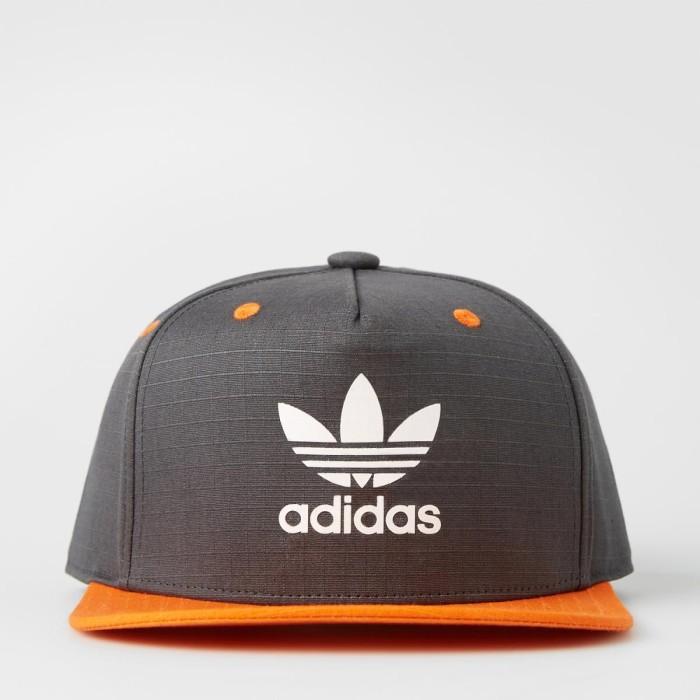 Jual Topi snapback adidas flat brim cap adicolor hitam oren original ... bca7d9a867