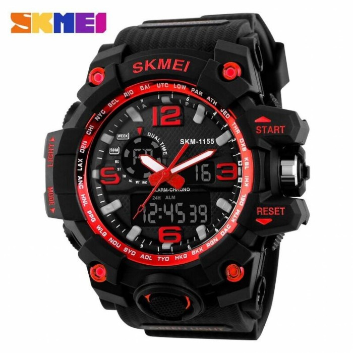 harga Jam tangan pria skmei casual men leather strap watch anti air Tokopedia.com