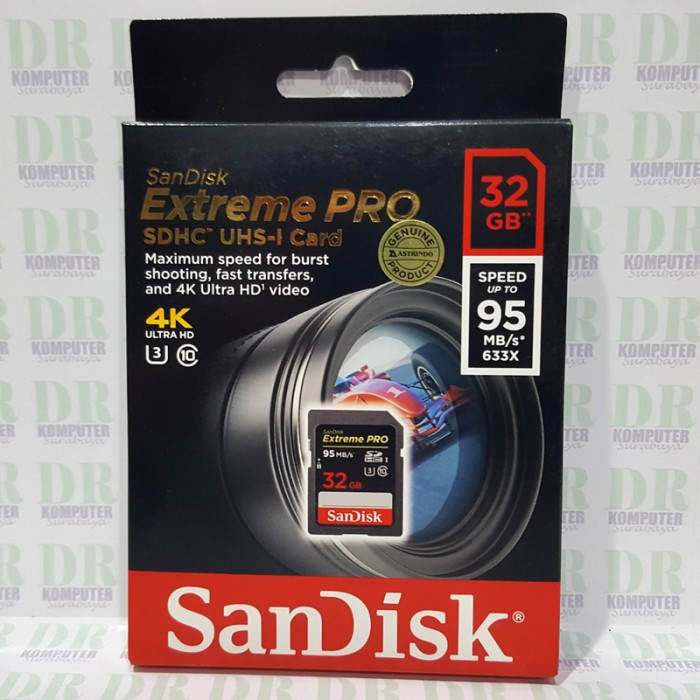 harga Sandisk sdhc extreme pro 32gb 95mb/s u3 4k (sdsdxpa-032gb) Tokopedia.com