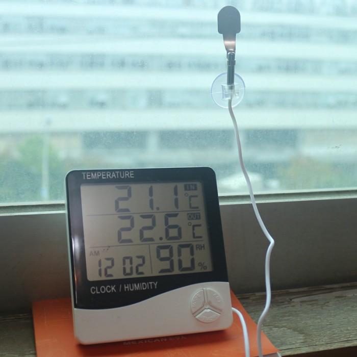 Jual Termometer Digital Suhu Temperature Dalam Luar Ruangan + ... 428694e3ed396