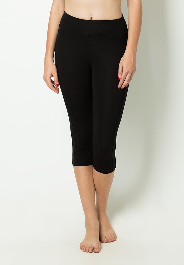 Celana Legging Yoga / Celana Senam Murah Hitam DL 77037