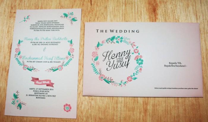Jual Undangan Pernikahan Vintage Simple Henny Yusuf Kab Sidoarjo Afy Undangan Souvenir Tokopedia