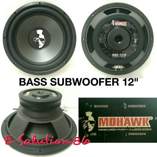 harga Subwoofer mobil 12  mohawk mg-124 speaker subwoofer bass Tokopedia.com