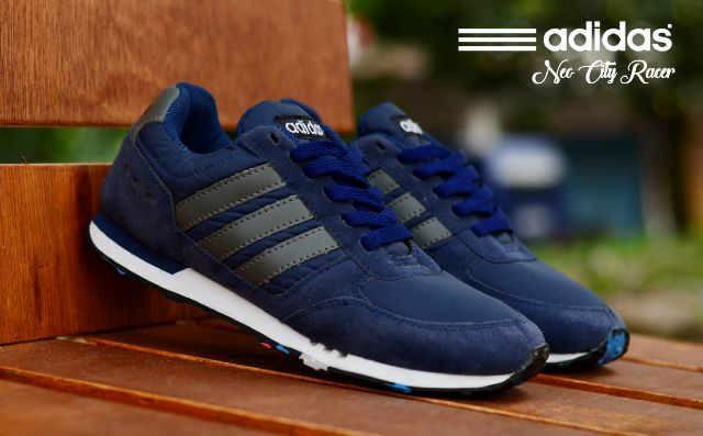 73d82d90a874 Jual Sepatu Murah Adidas Neo City Racer Nevy Lis Hitam Sepatu Pria ...