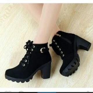harga Sepatu Heels Boot Tb-284 Hitam Tokopedia.com