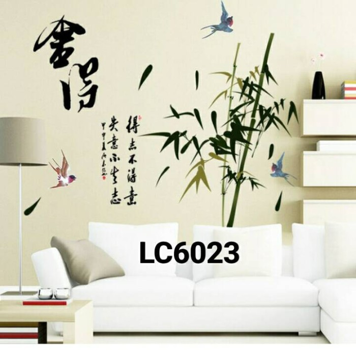 jual wall sticker / wall stiker / stiker dinding bambu lc6023