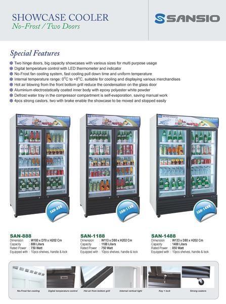 harga Sansio showcase dan chest freezer Tokopedia.com
