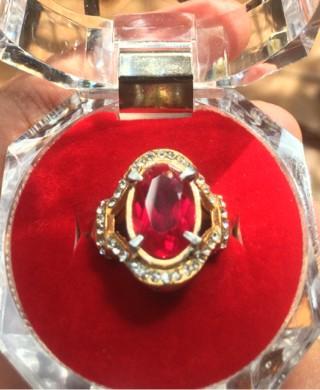 harga Cincin titanium wanita batu merah siam/siem bangkok hq Tokopedia.com