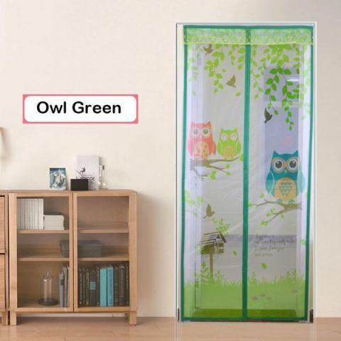 Gorden magnet anti nyamuk motif owl kelambu pintu anti serangga… bawah