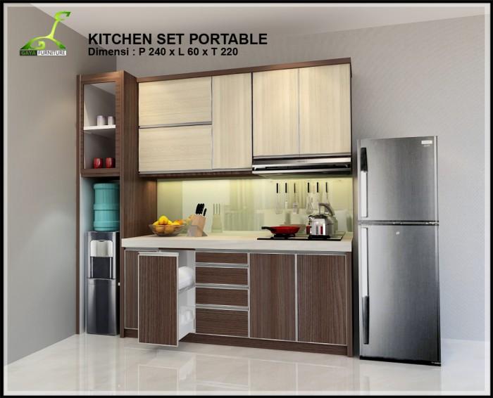 Jual Kitchen Set Portable Gaya Furniture Tokopedia