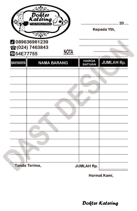 Jual Nota Custom Po Kota Bandung Maryam Fatloss Tokopedia