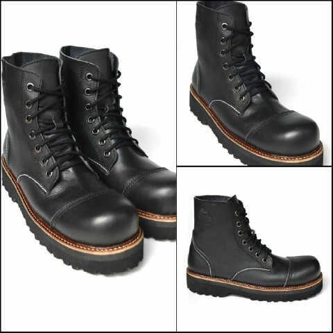 ... harga Sepatu murah black master ug high hitam sepatu boots pria original  Tokopedia.com f7b2682076