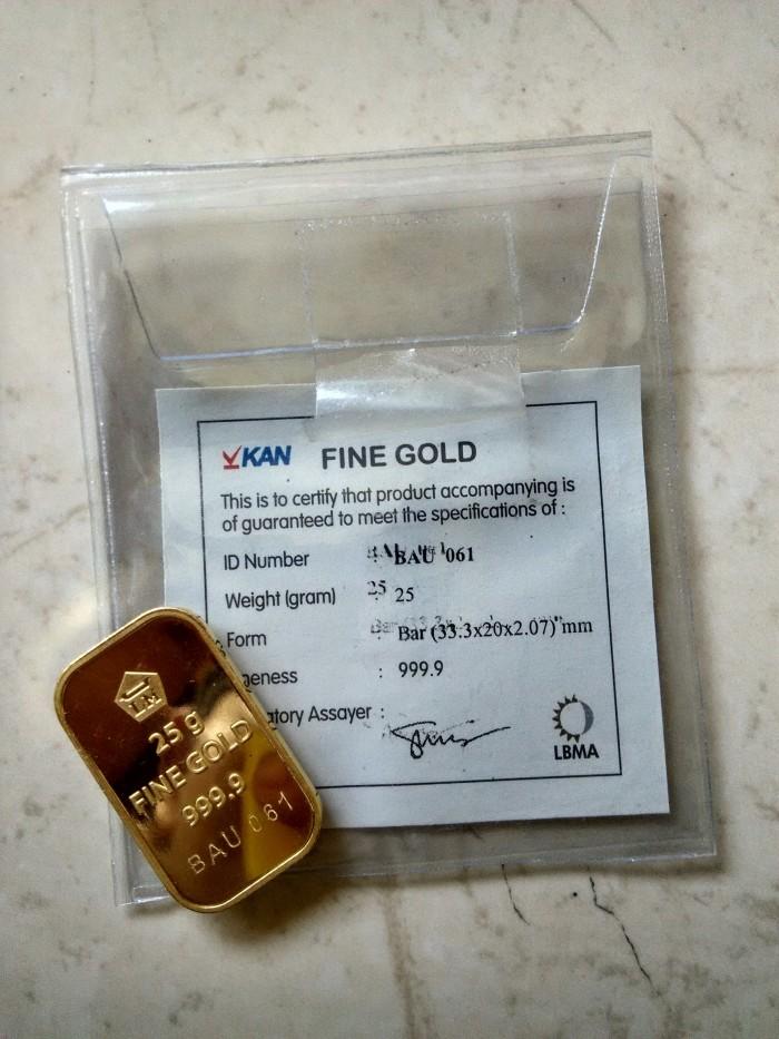 Jual Garansi Emas Batangan 25 Gram Lm Antam 25 Gr Include