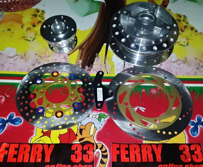 harga 1 set tromol depan belakang ninja rr dan r Tokopedia.com