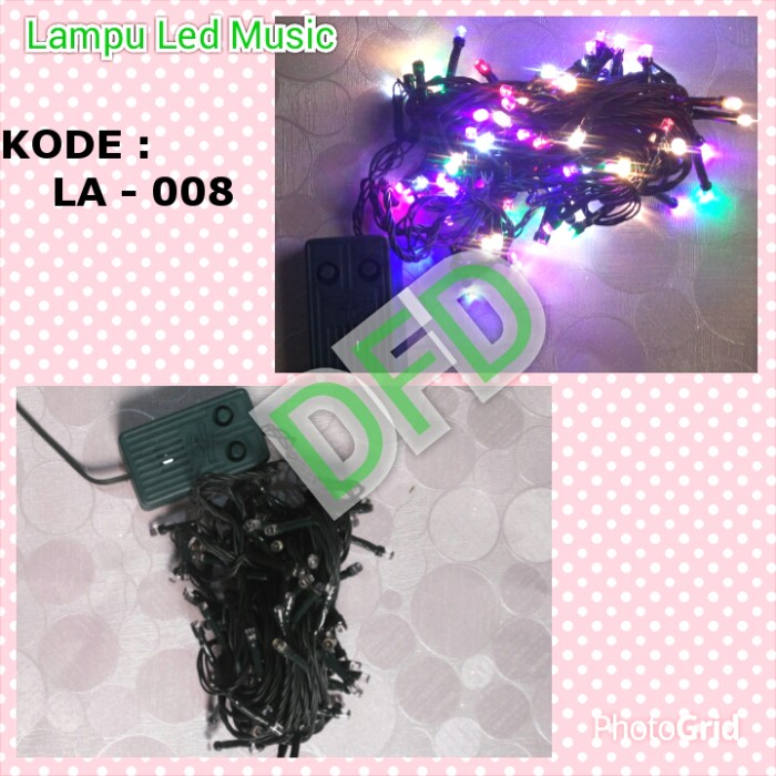 Lampu natal / lampu led musik ( kode : la - 008 )