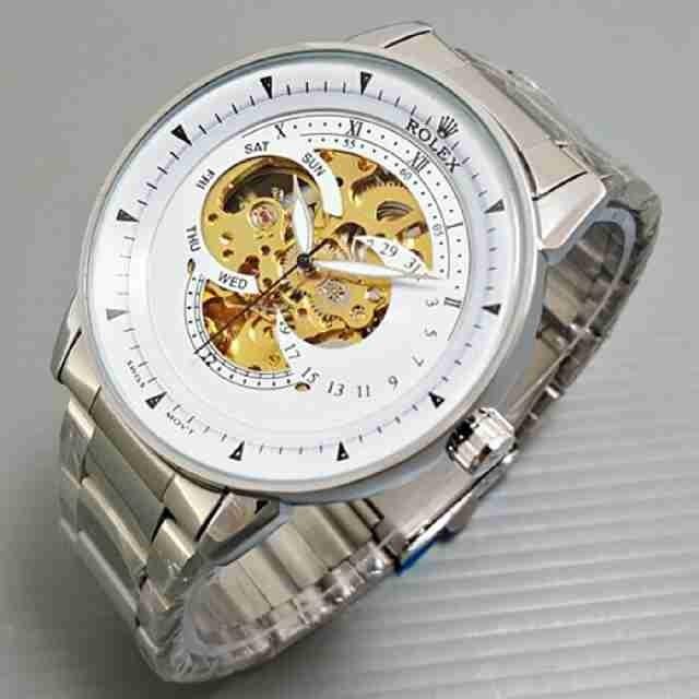 harga Rolex skeleton besar silver cover white Tokopedia.com