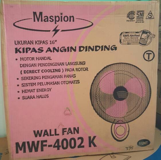 harga Maspion mwf-4002k wall fan 16 inch kipas angin dinding gantung tembok Tokopedia.com