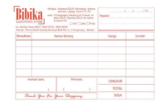 Jual Cetak Buku Nota Kota Tasikmalaya Cogant Digital Printing Tokopedia