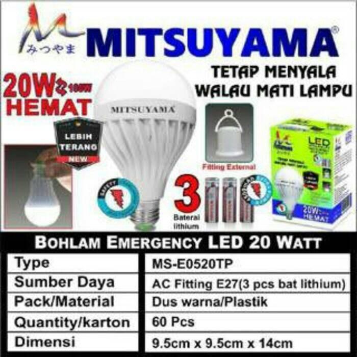 LAMPU AJAIB DI PEGANG NYALA / EMERGENCY 20 WATT LED