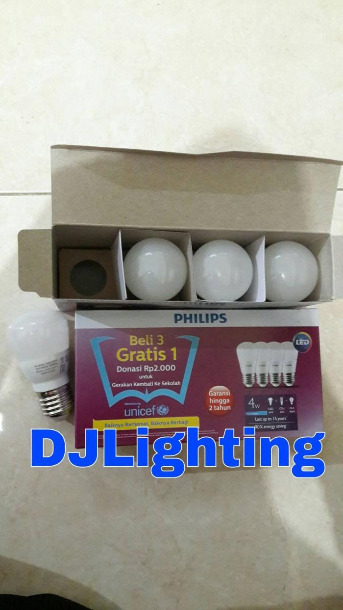 Harga Lampu Philips Led 3w Putih Termurah 2018 13 Watt Paket Isi 4 Jual Beli 3 Gratis 1