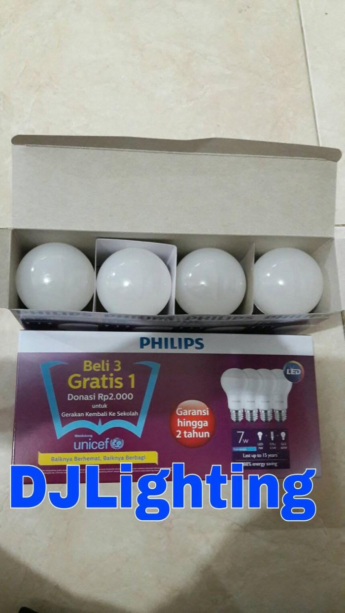 Jual Paket Beli 3 Gratis 1 Lampu Philips Led 7 Watt Putih 13 Isi 4
