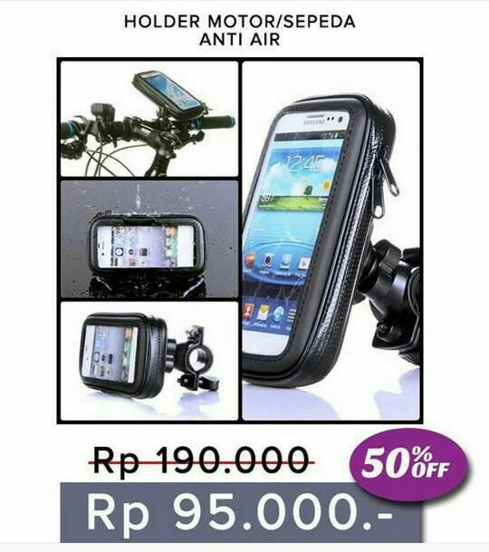 harga Holder Braket Hp Handphone Stang Sepeda Motor Anti Air Waterproof Axlo Tokopedia.com